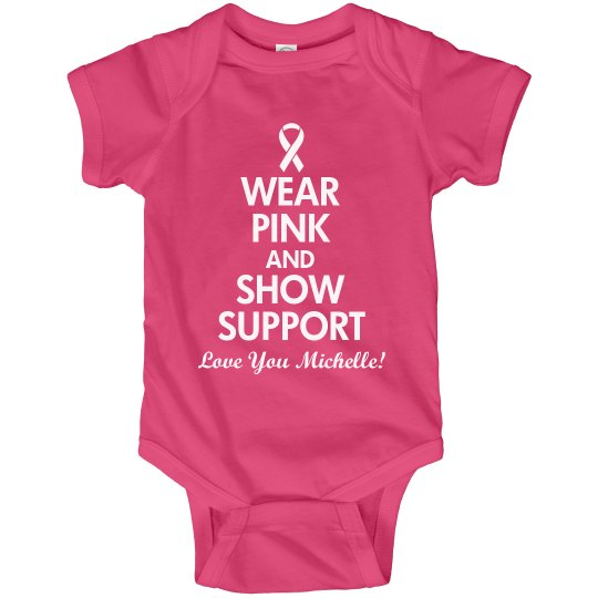 Breast Cancer Charity Onesie With Custom Name
