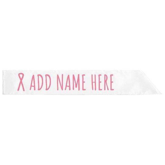 Breast Cancer Custom Name Pink