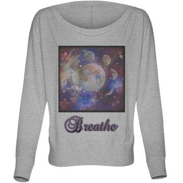 Breathe Galaxy long sleeve shirt