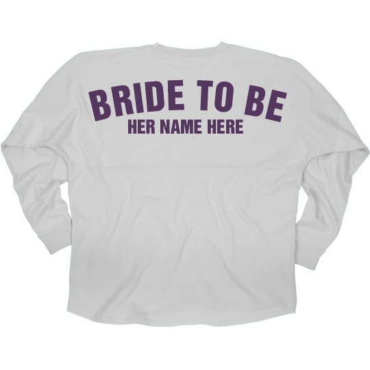 Bride Custom Name Jersey