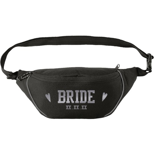 Bride to Be Custom Silver Metallic Fanny Pack