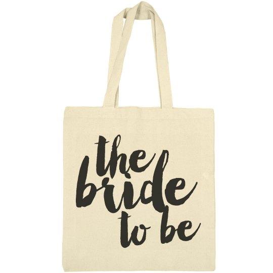 Bride To Be Script Bag