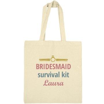 Bridesmaid Survival Tote bag