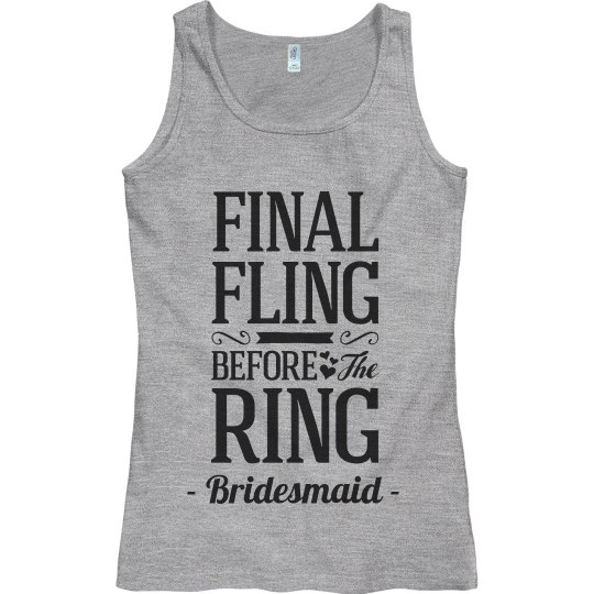 Bridesmaid The Final Fling Design