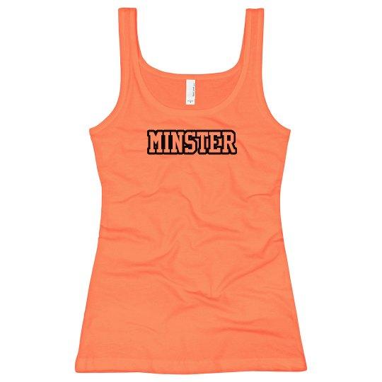 Bright orange Minster tank