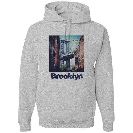 Brooklyn Bridge Hoodie- Jazzy Art