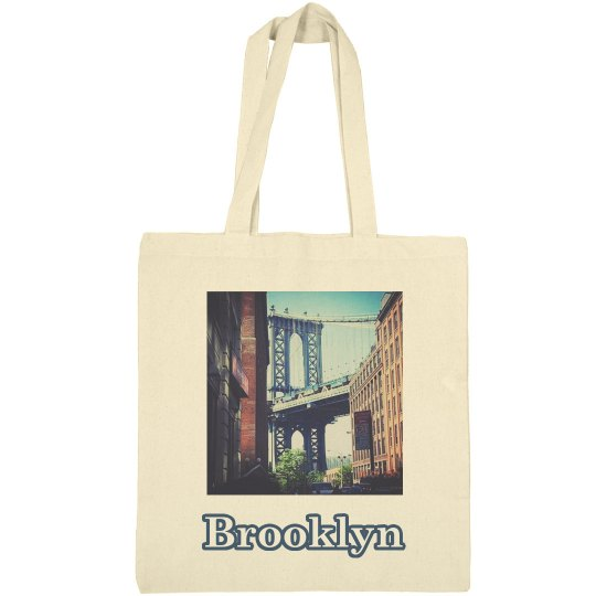 Brooklyn Bridge Tote Bag= Jazzy Art