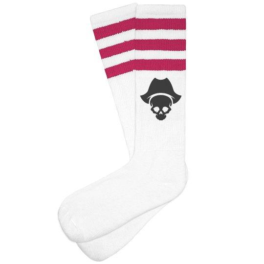 Buccaneer/Pirate 3-stripe Knee Socks