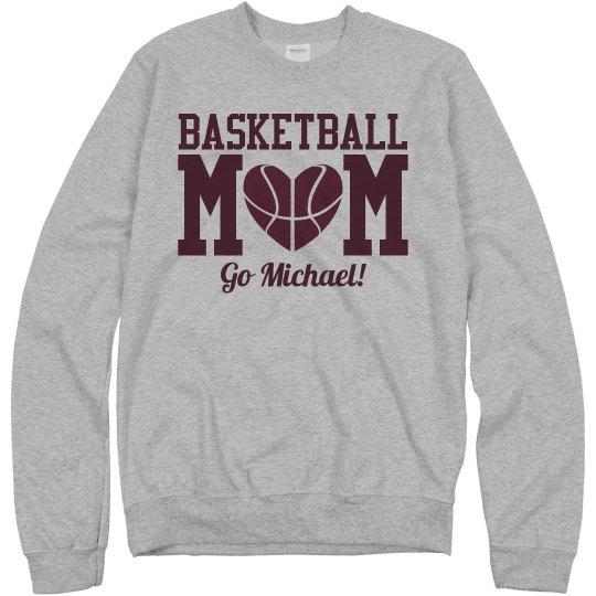 Budget Priced Basketball Mom Fleece With Custom Number