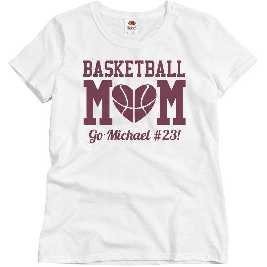 Budget Priced Basketball Mom Shirt With Custom Number