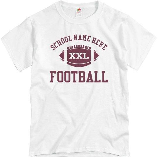 Budget Priced Football Dad Shirt With Custom Back