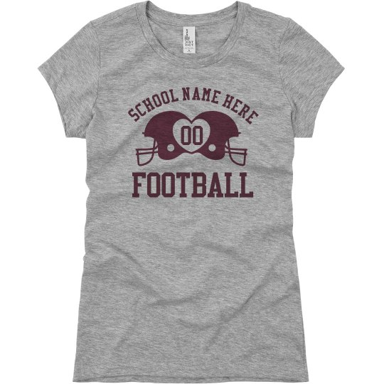 Budget Priced Football Mom Shirts With Custom Text
