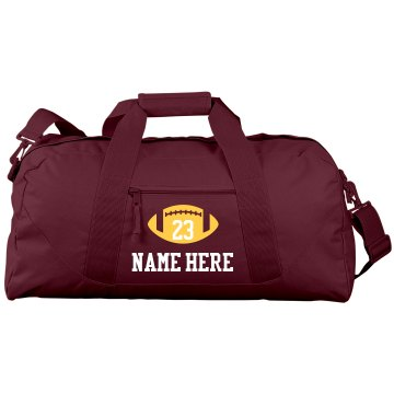 Budget Priced Football Team Bag With Name Number