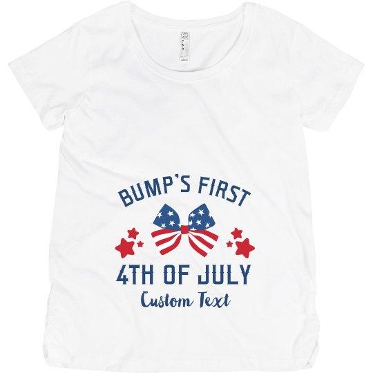 Bump's First Fourth! Custom Maternity Tee