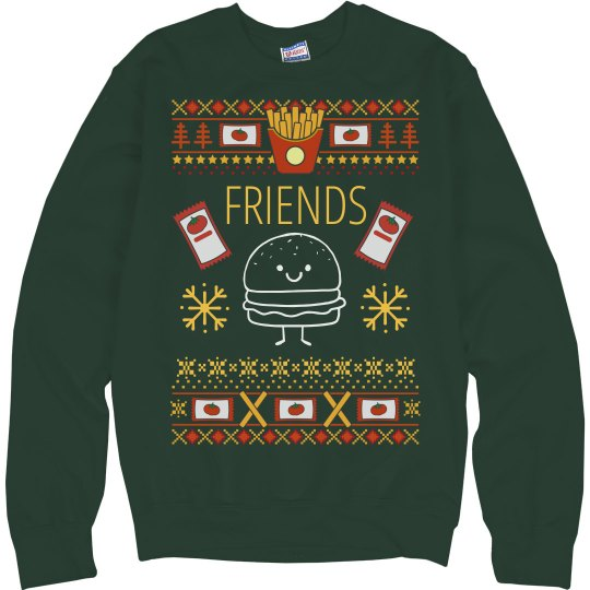 Burger And Fries Sweater BFF 2