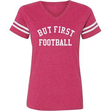 But first football shirt