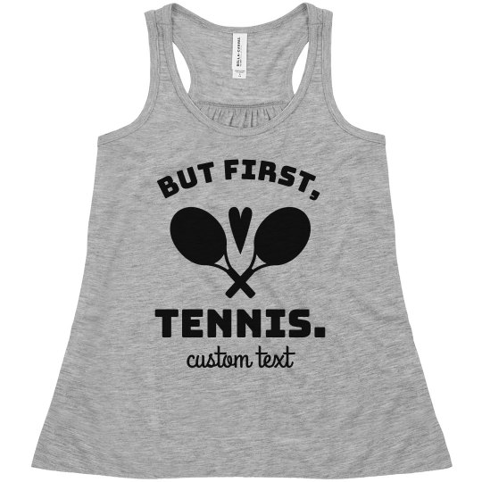 But First, Tennis Youth Tanks