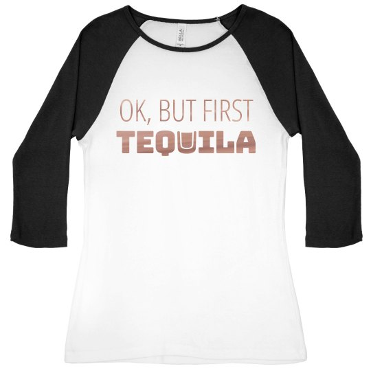 But First Tequila Metallic Raglan