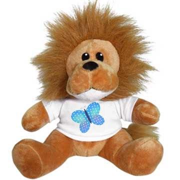 Butterfly Stuffed Lion