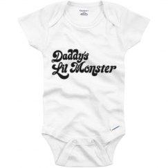 Daddy's Little Monster Infant Onesie