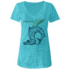 Barrashuda Jr Burnout V-Neck T-Shirt
