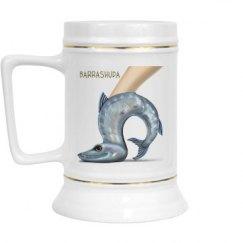 Barrashuda White Drinking Stein