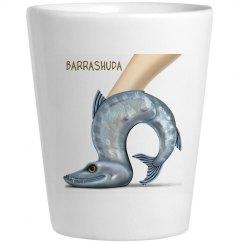 Barrashuda White Shot Glass