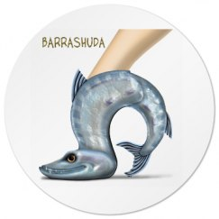 Barrashuda Circular White Drink Coaster