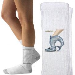 Barrashuda Womens White Socks
