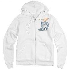 Barrashuda Canvas Fleece Zipper Hoodie Sweatshirt