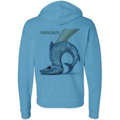 Barrashuda Fleece Neon Zipper Hoodie Hooded Sweatshirt