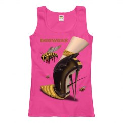 Beewear Anvil Ringspun Semi Fitted Tank Top for Misses