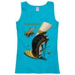 Beewear Loose Fit Scoop Neck Tank Top for Misses
