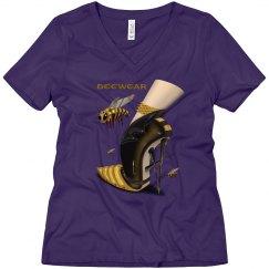 Beewear Loose Fit V Neck T-Shirt for Misses