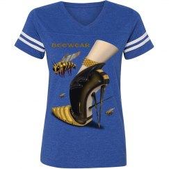 Beewear Loose Fit Stripe Sleeve Football T-Shirt for Mi