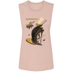 Beewear Bella Flowy Scoop Collar Muscle Tank Top Woman