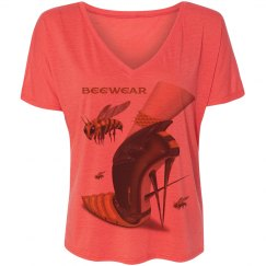 Beewear Flowy Slouchy V Neck T-Shirt for Women
