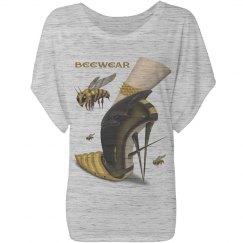 Beewear Bella Flowy Draped Sleeve T-Shirt for Women