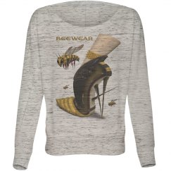 Beewear Bella Flowy Long Sleeve Off Shoulder Shirt for