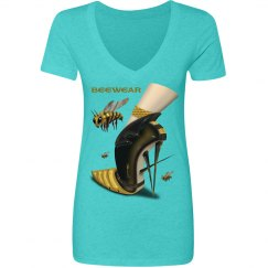 Beewear Tri-Blend Low V Neck T-Shirt for Juniors