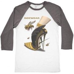 Beewear ¾ Sleeve Raglan Unisex Baseball Shirt
