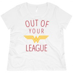 Out of Your League Plus Tee