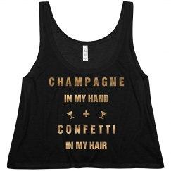 Champagne And Confetti Metallic