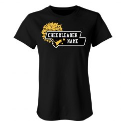Cheer Tee - Custom Cheerleader Name t-Shirt