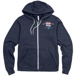 KBB Free Hugs Fleece zip up hoodie