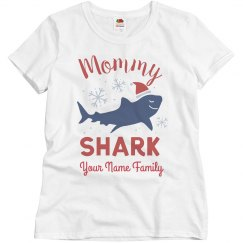 Mommy Shark Matching Family Christmas Custom Shirts