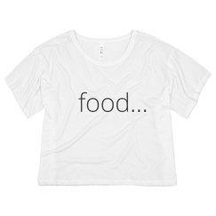 food... crop top