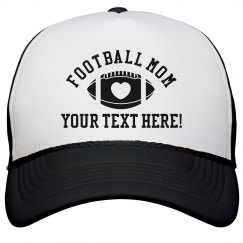 Custom Text Football Mom