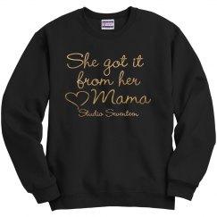 From Her Mama (Metallic) Sweatshirt