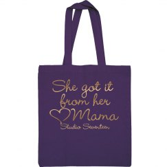 From Her Mama (Metallic) Canvas Bag